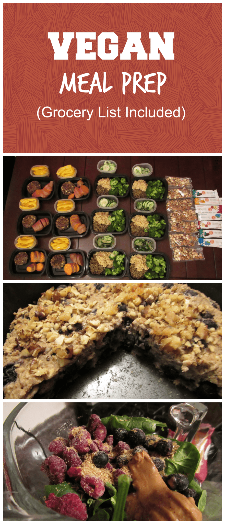 A full week of vegan meal prep! A portion control plan rich in fiber, nutrients, healthy fats, and protein. ~www.LivingLikeLeila.com~