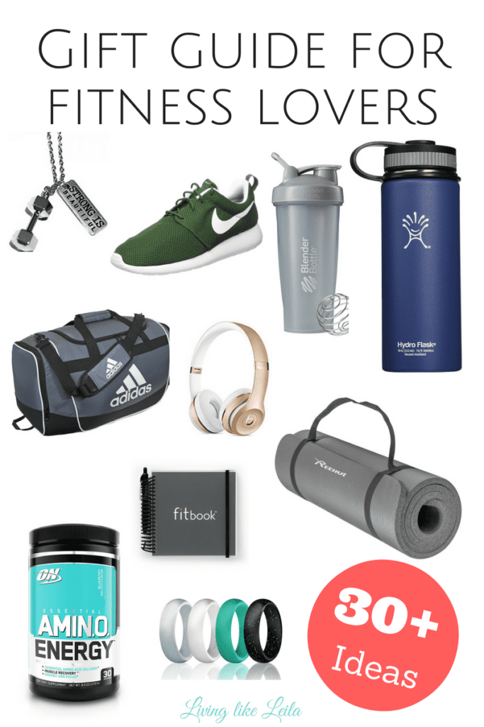 Do you have a fitness lover in your life and you're unsure of what to buy for them this holiday season? Check out this awesome list with over 30 gift ideas for him or her and beginners or advanced athletes! --www.LivinglikeLeila.com--