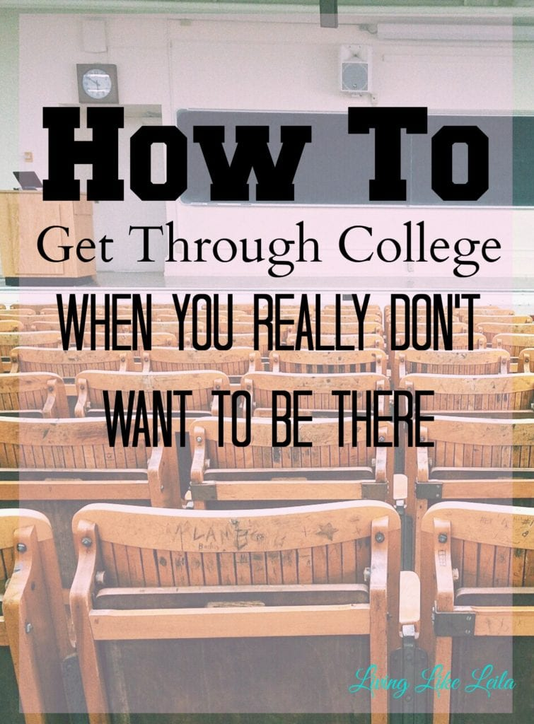 Are you struggling through college? Do you dread classes and studying? You're not alone. Try these few things if you want to improve your school experience. --www.LivinglikeLeila.com--