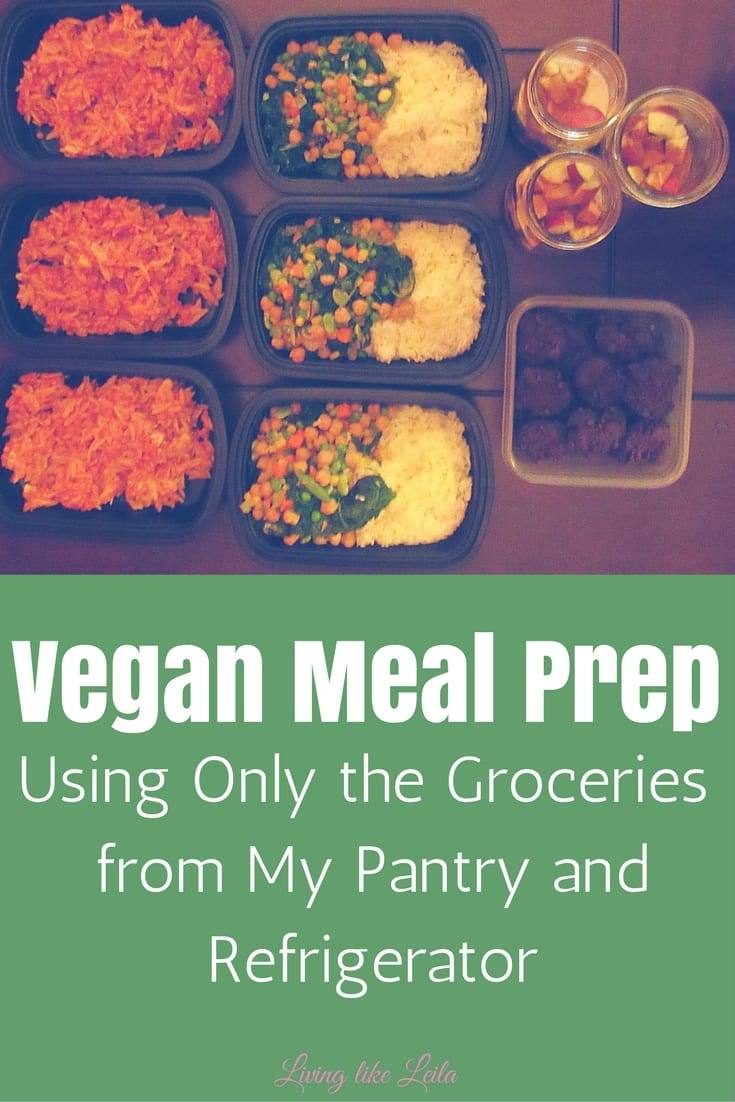 I prepared 3 days worth of meals only using the groceries in my pantry and refrigerator! A great way to save some money and avoid food going to waste! --www.LivinglikeLeila.com--