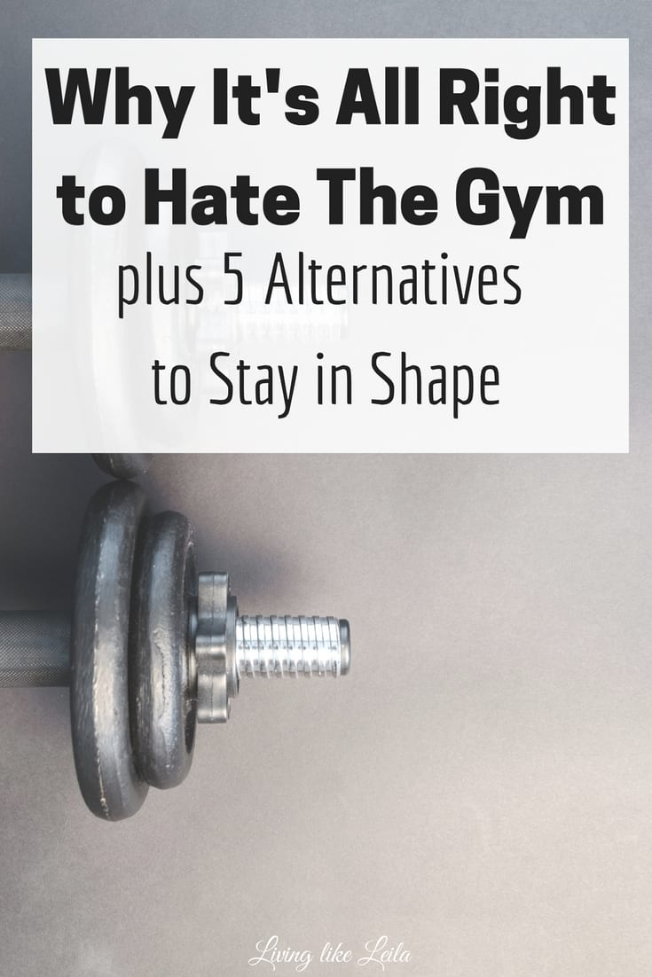 Hate going to the gym? That's all right! But it's so important to stay physically fit so try these alternatives instead! --www.LivinglikeLeila.com--